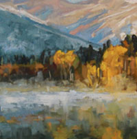 Alison Leight Menke - tree and lake painting